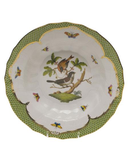 Herend Rothschild Bird Green Motif 04 Rim Soup Bowl