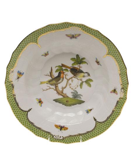 Herend Rothschild Bird Green Motif 11 Rim Soup Bowl