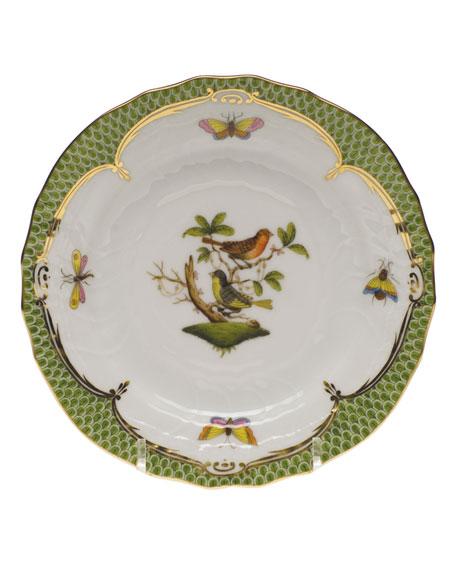 Herend Rothschild Bird Green Motif 03 Bread & Butter Plate