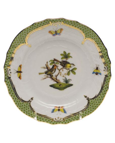 Herend Rothschild Bird Green Motif 11 Bread & Butter Plate