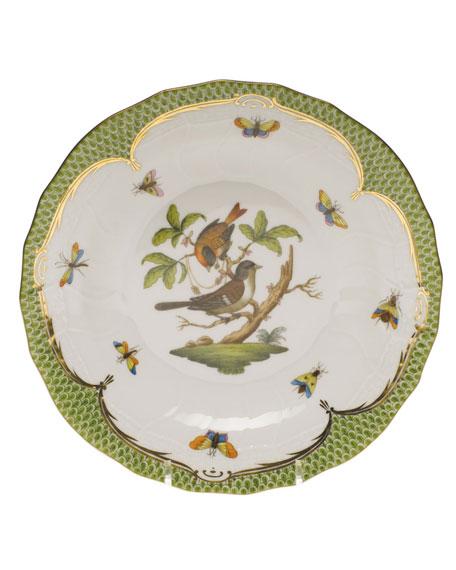 Herend Rothschild Bird Green Motif 04 Dessert Plate