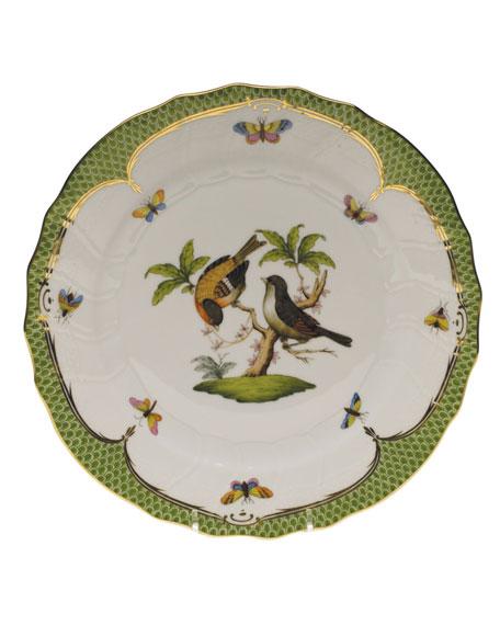 Herend Rothschild Bird Green Motif 12 Dinner Plate