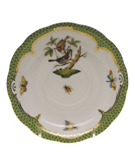 Herend Rothschild Bird Green Motif 04 Tea Saucer