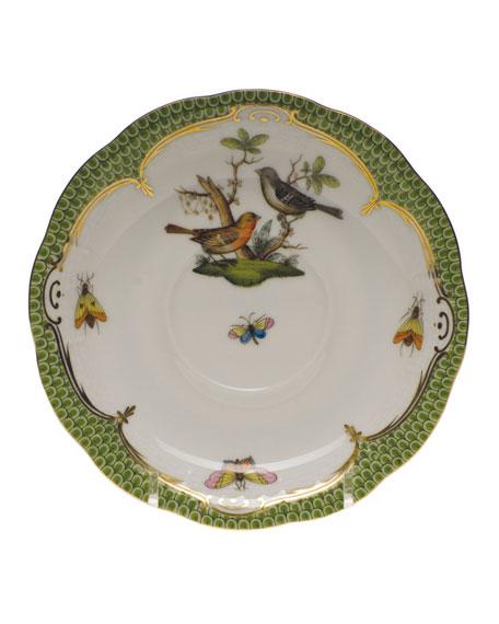 Herend Rothschild Bird Green Motif 05 Tea Saucer