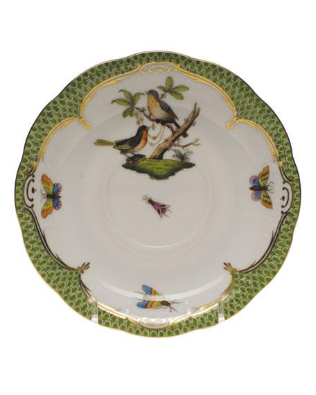 Herend Rothschild Bird Green Motif 08 Tea Saucer