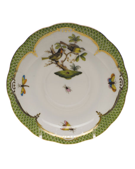 Herend Rothschild Bird Green Motif 11 Tea Saucer