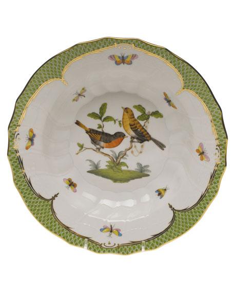 Herend Rothschild Bird Green Motif 09 Rim Soup Bowl