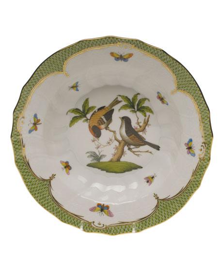 Herend Rothschild Bird Green Motif 12 Rim Soup Bowl