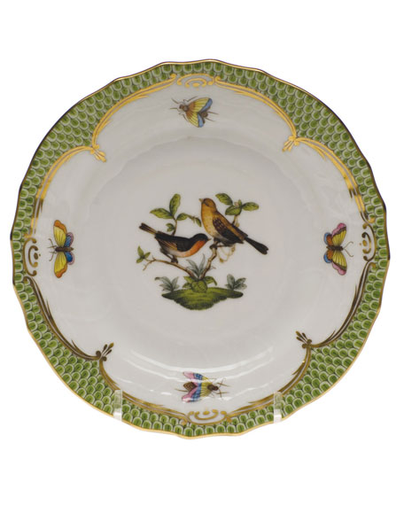 Herend Rothschild Bird Green Motif 09 Bread & Butter Plate