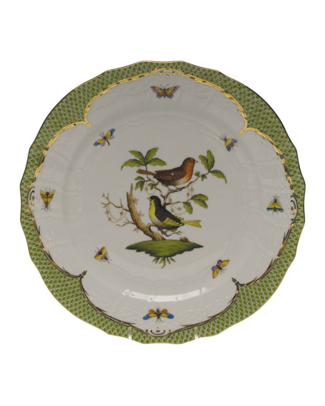Herend Rothschild Bird Green Motif 03 Service Plate