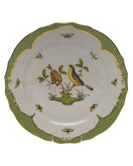 Herend Rothschild Bird Green Motif 07 Service Plate