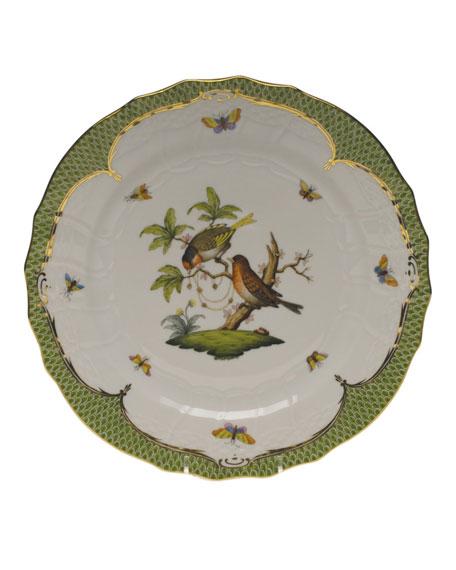 Herend Rothschild Bird Green Motif 10 Service Plate