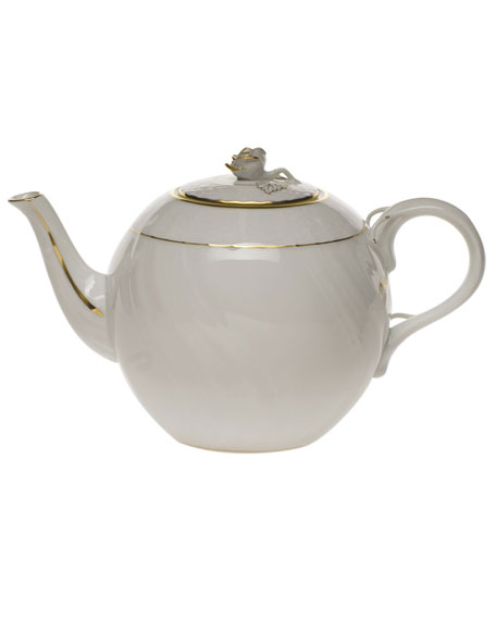 Herend Golden Edge Teapot with Rose