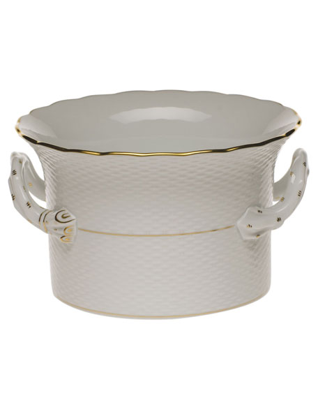 Herend Golden Edge Large Cache Pot