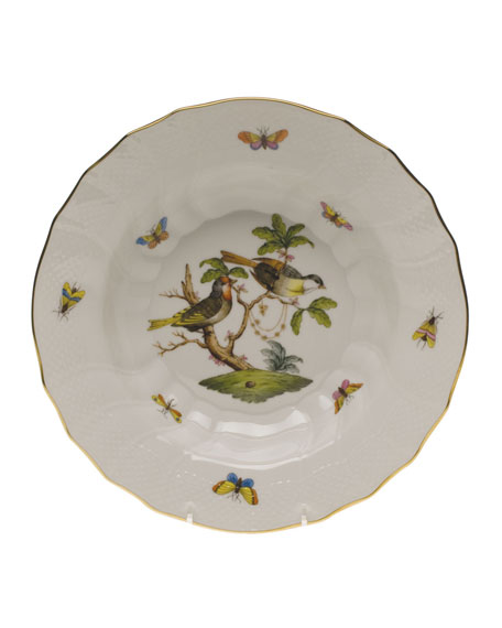 Herend Rothschild Bird Motif 11 Rim Soup Bowl