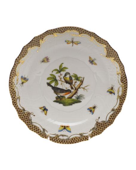 Herend Rothschild Bird Brown Motif 2 Salad Plate
