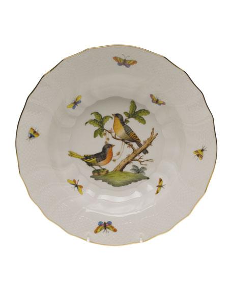 Herend Rothschild Bird Motif 8 Rim Soup Bowl