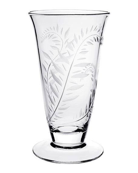 """William Yeoward Jasmine Footed Vase, 11"""""""