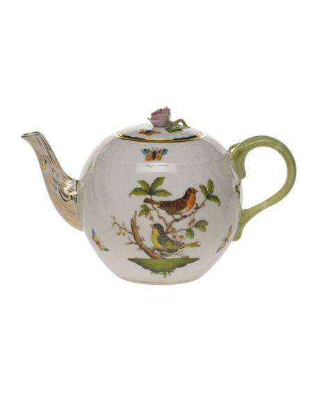 Herend Rothschild Bird Tea Pot with Bird
