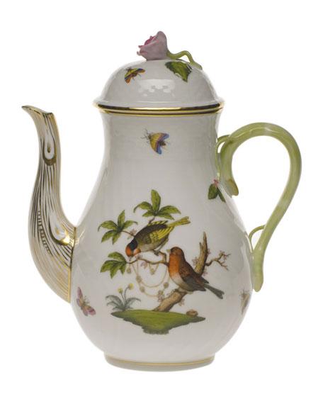 Herend Rothschild Bird Coffee Pot with Bird