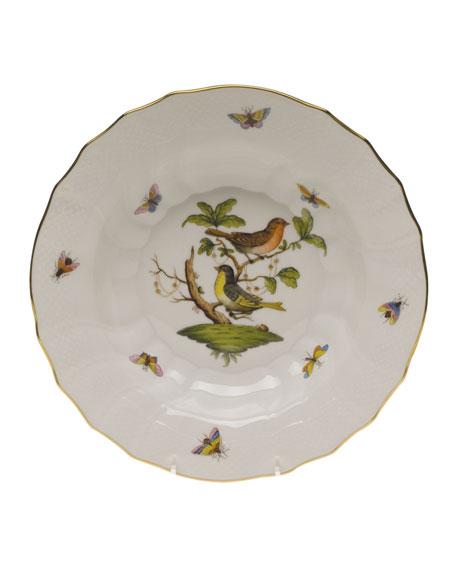 Herend Rothschild Bird Motif 3 Rim Soup Plate