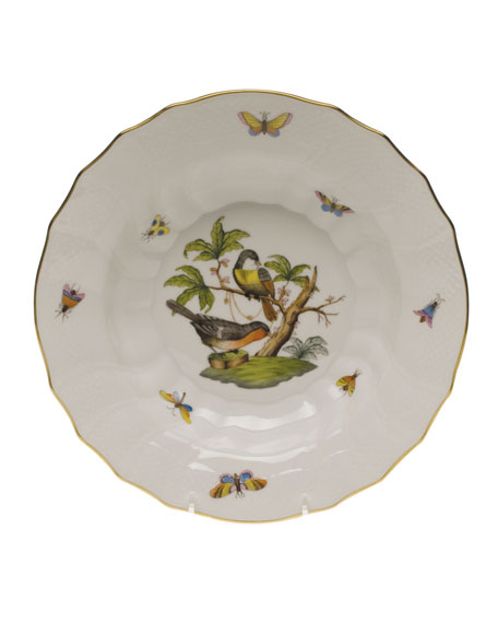 Herend Rothschild Bird Motif 2 Rim Soup Plate