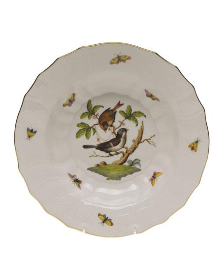 Herend Rothschild Bird Motif 4 Rim Soup Plate