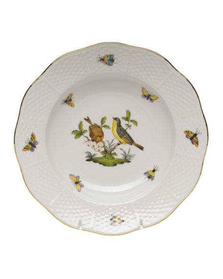 Herend Rothschild Bird Motif 7 Rim Soup Plate