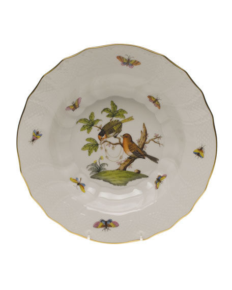 Herend Rothschild Bird Motif 10 Rim Soup Bowl