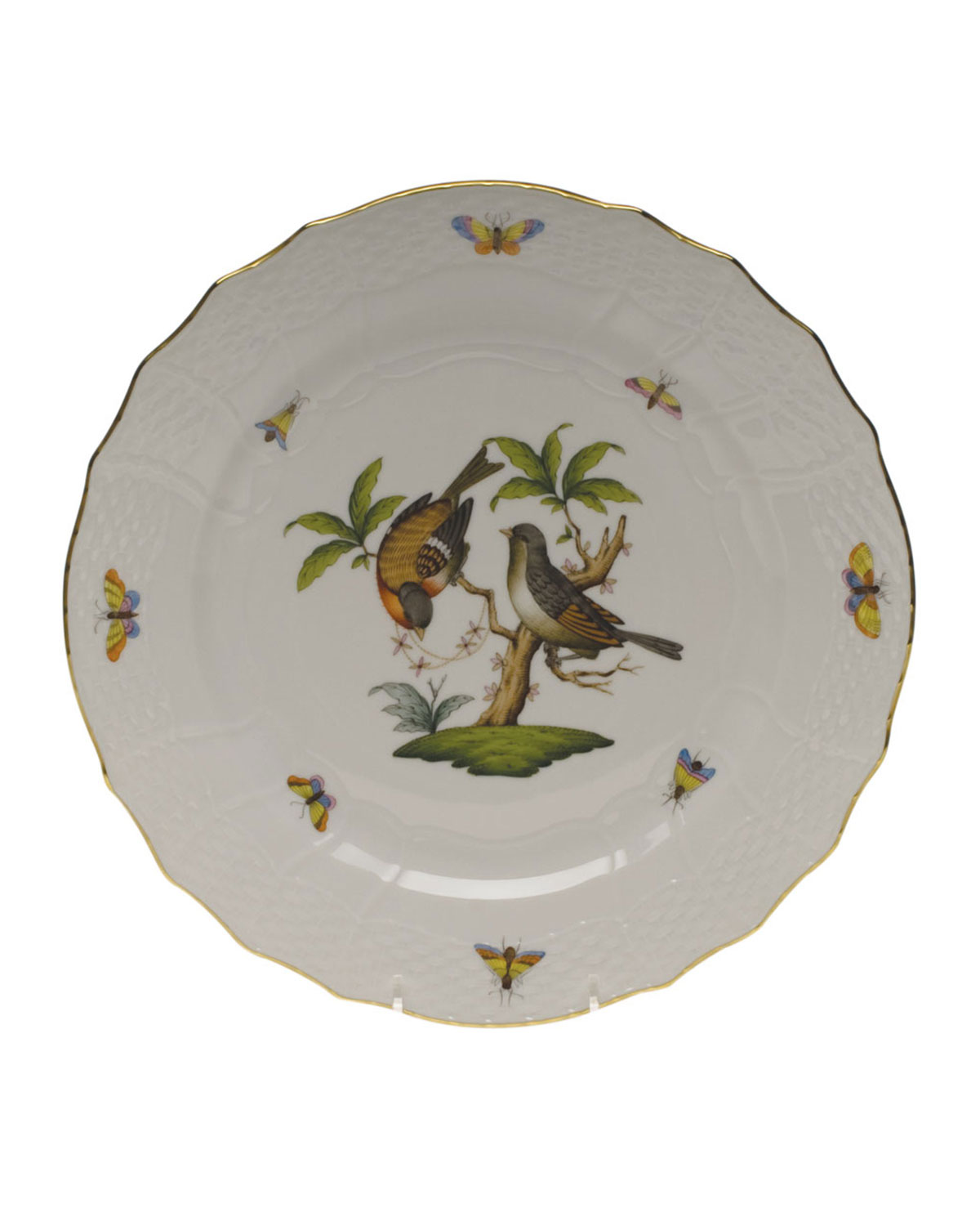 Herend Rothschild Bird Service Plate/Charger 12