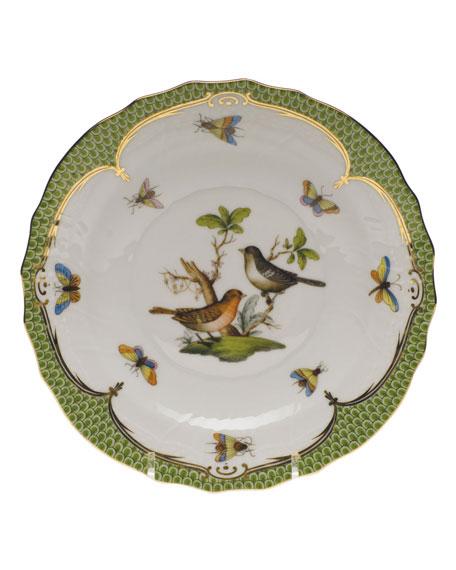 Herend Rothschild Bird Green Motif 05 Salad Plate