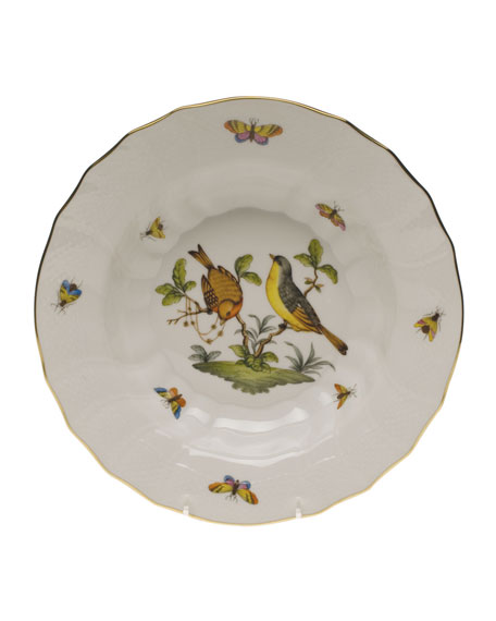 Herend Rothschild Bird Motif 07 Rim Soup Bowl