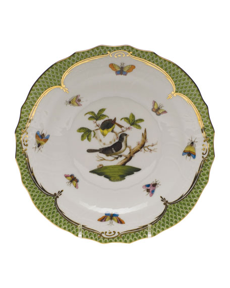 Herend Rothschild Bird Green Motif 01 Salad Plate