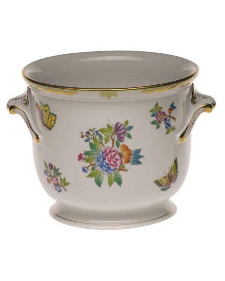 Herend Queen Victoria Green Medium Cache Pot