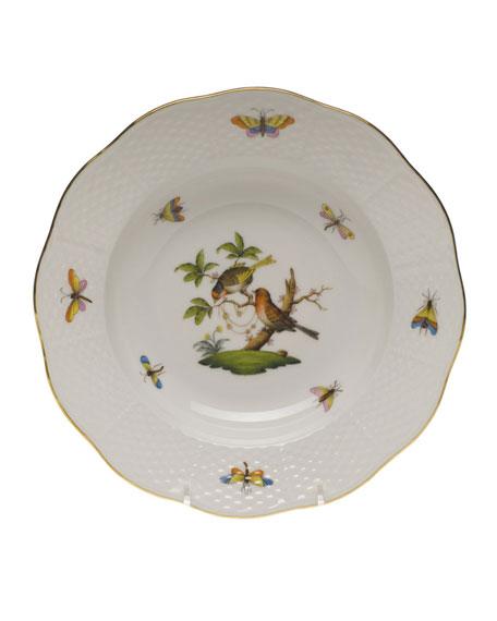 Herend Rothschild Bird Motif 10 Rim Soup Plate