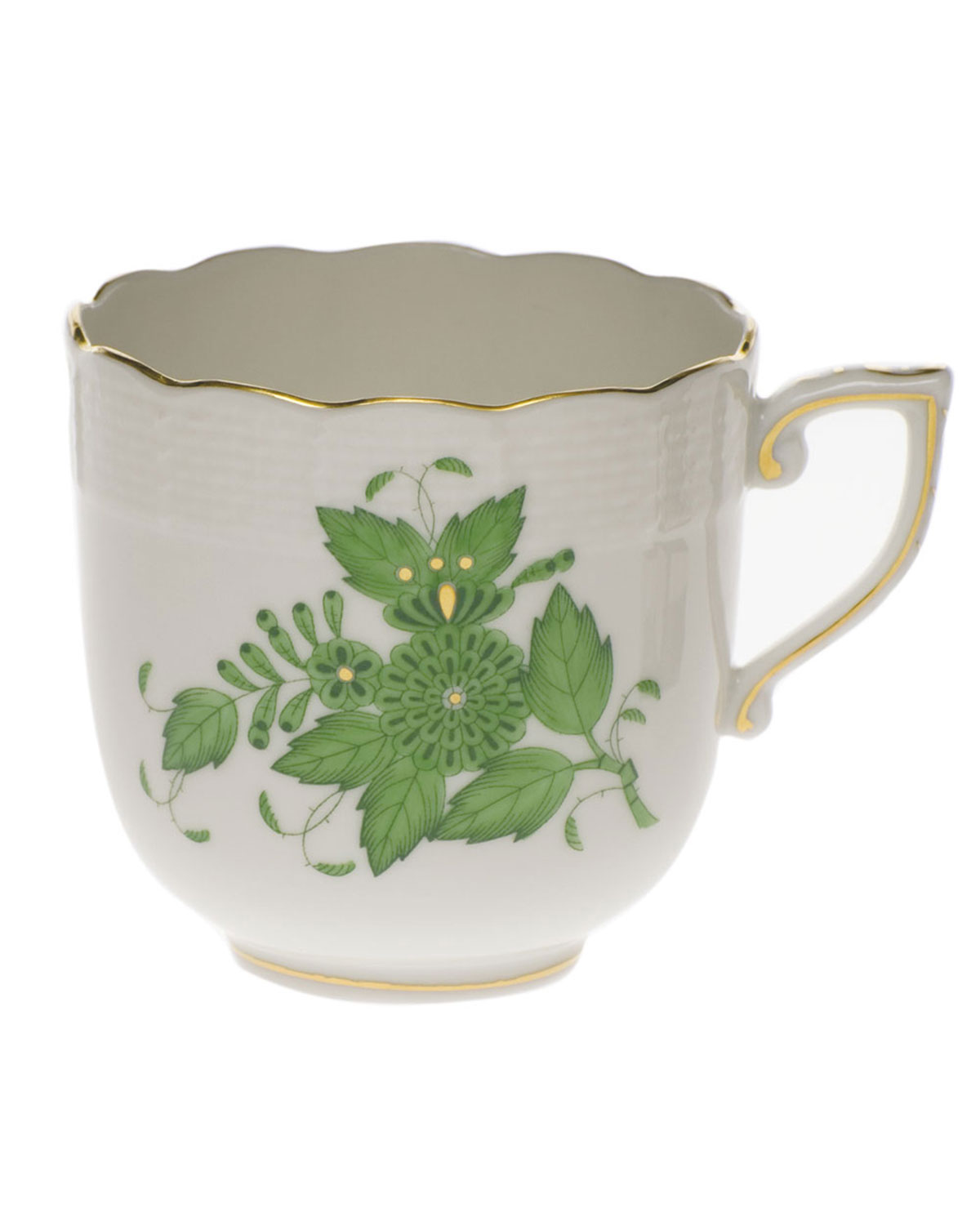 Herend Chinese Bouquet Green Mocha Cup