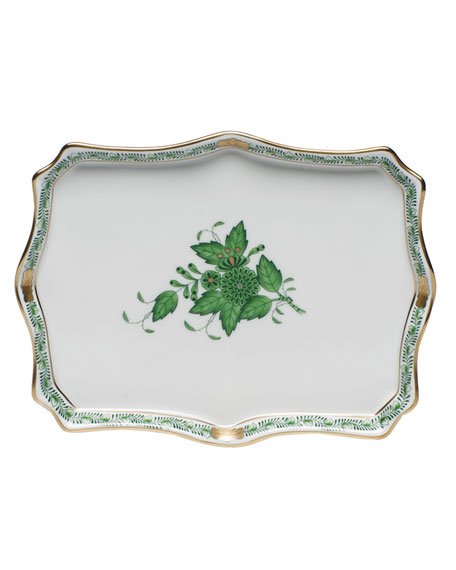 Herend Chinese Bouquet Green Small Tray
