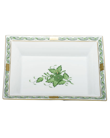Herend Chinese Bouquet Green Jewelry Tray