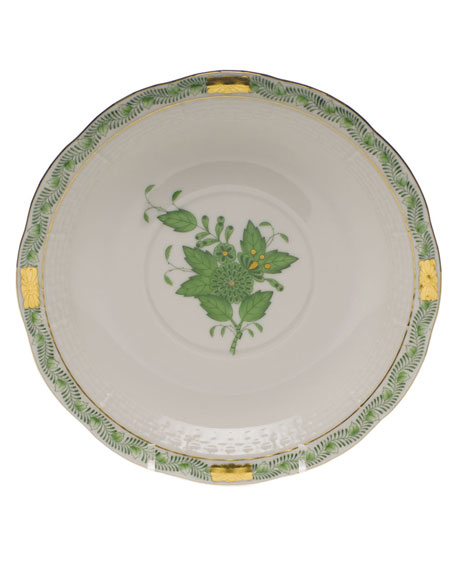 Herend Chinese Bouquet Green Cream Soup Stand
