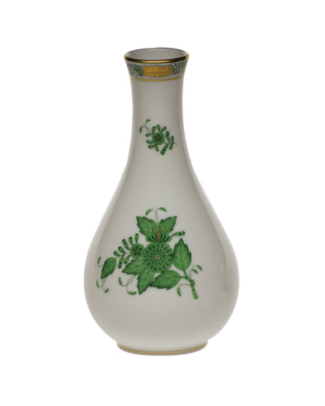 Herend Chinese Bouquet Green Vase