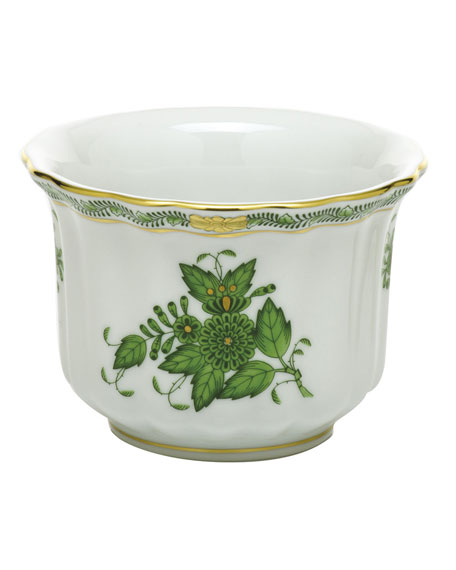 Herend Chinese Bouquet Green Mini Cache Pot
