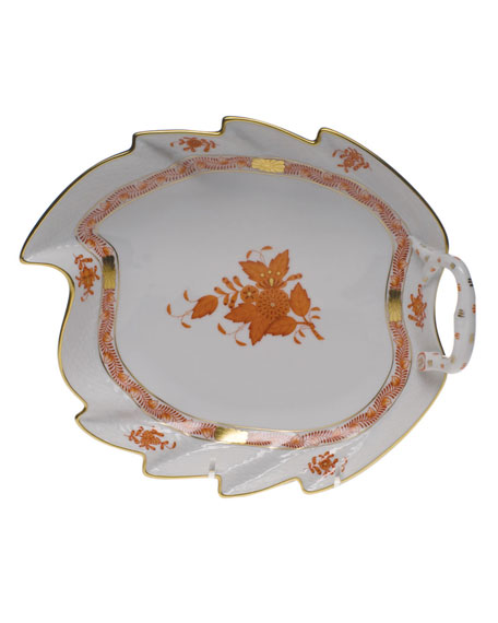 Herend Chinese Boutique Rust Leaf Dish