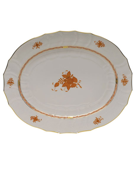 Herend Chinese Boutique Rust Turkey Platter