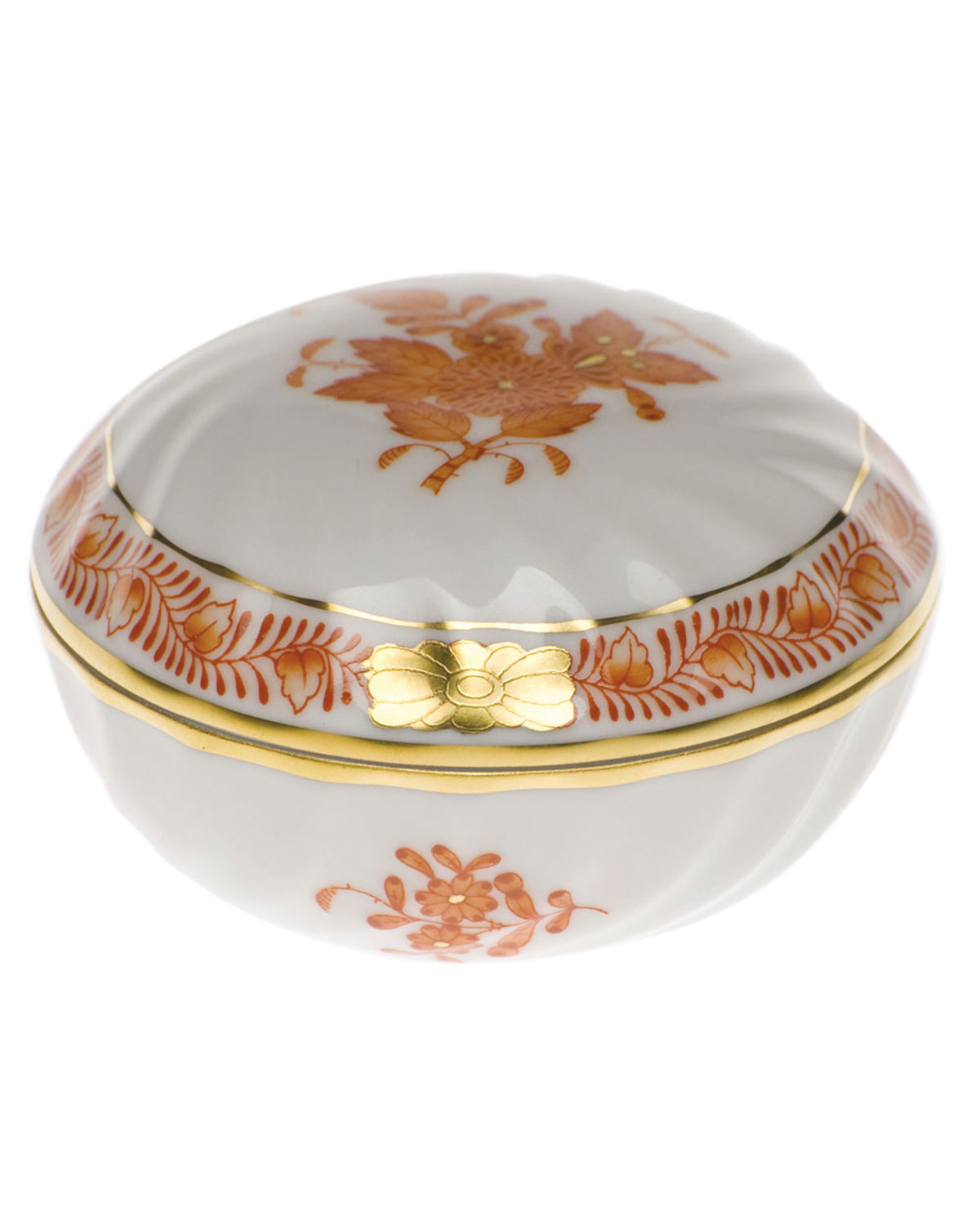 Herend Chinese Boutique Rust Ring Box