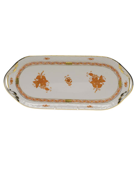 Herend Chinese Boutique Rust Sandwich Tray