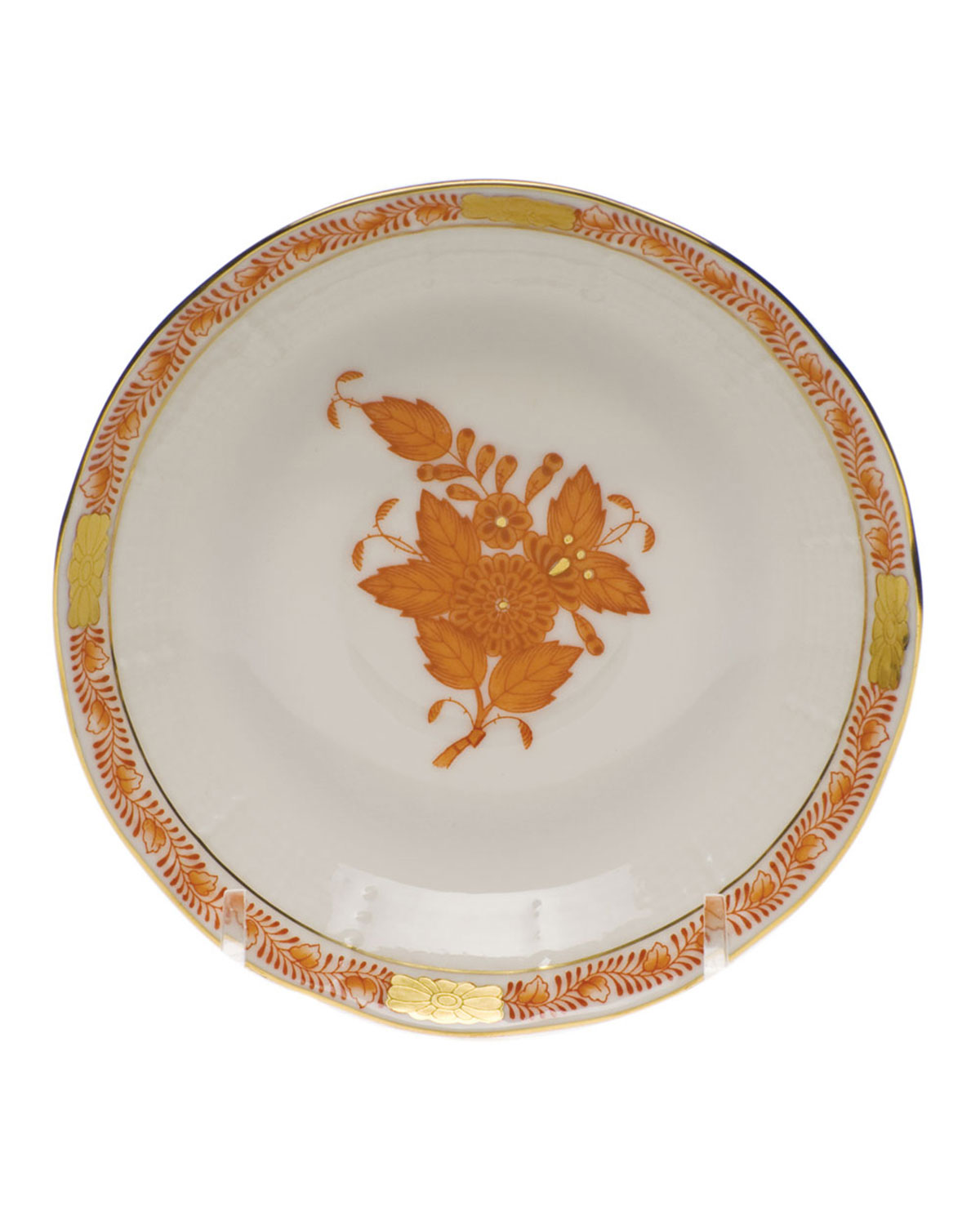 Herend Chinese Boutique Rust After Dinner Saucer