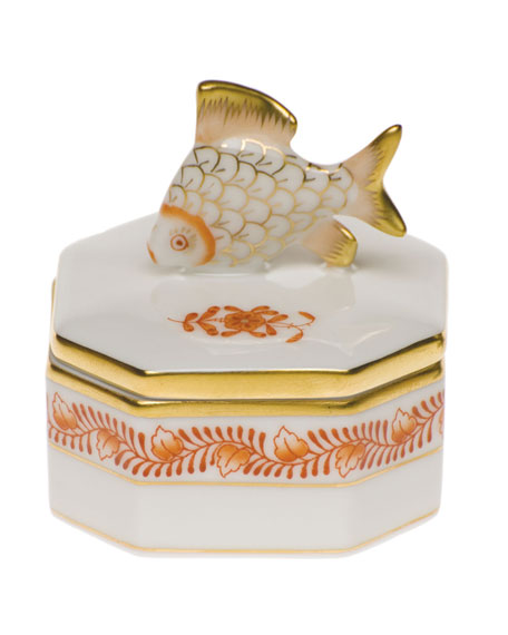 Herend Petite Octagonal Fish Box