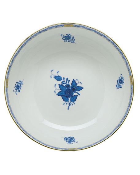 Herend Chinese Bouquet Blue Medium Bowl