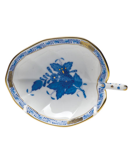 Herend Chinese Bouquet Blue Leaf Tray