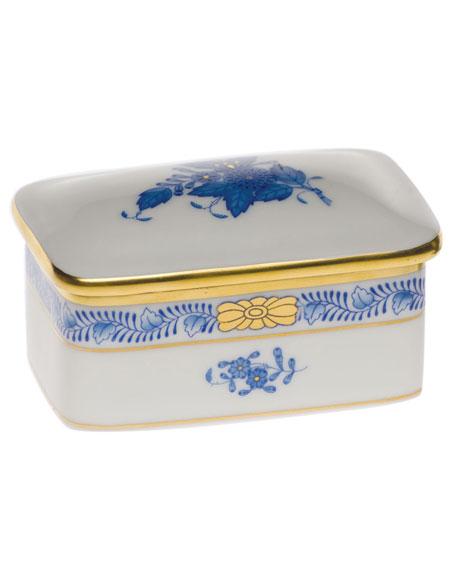 Herend Chinese Bouquet Rectangular Box - Blue